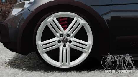 Volkswagen Saveiro Cross Edit para GTA 4 vista de volta