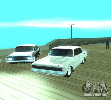 Dragster Moskvich 2140 para GTA San Andreas vista traseira