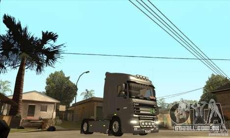 DAF XF para GTA San Andreas vista interior