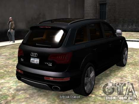 Audi Q7 V12 TDI Quattro Final para GTA 4 vista direita