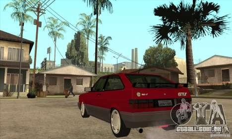 Volkswagen Gol GTS 1994 para GTA San Andreas traseira esquerda vista
