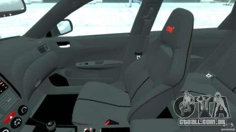 Subaru Impreza WRX STi 2011 Subaru World Rally para GTA 4 vista de volta