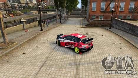Subaru Impreza WRX STI Rallycross Eibach Springs para GTA 4 traseira esquerda vista