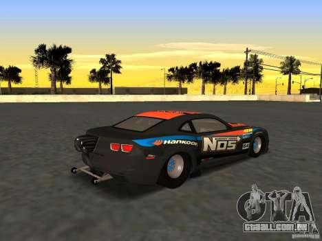 Chevrolet Camaro NOS para GTA San Andreas esquerda vista