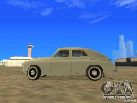 GAZ M20 Pobeda 1949 para GTA San Andreas esquerda vista