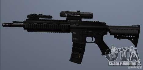 Carabina HK416 para GTA San Andreas por diante tela