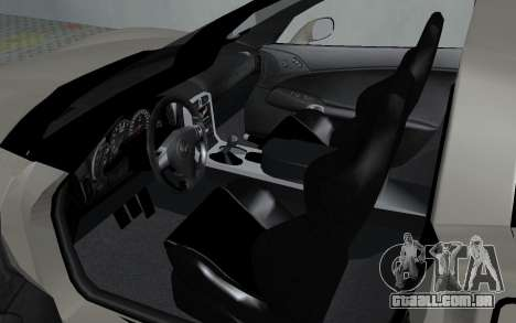 Chevrolet Covette Z06 para GTA San Andreas vista traseira