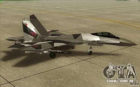 Su-35 BM v 2.0 para GTA San Andreas traseira esquerda vista