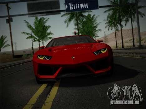 Lamborghini Estoque Concept 2008 para GTA San Andreas vista interior