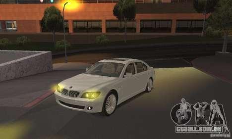 Faróis amarelos para GTA San Andreas segunda tela