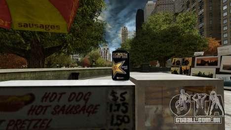 Rockstar energy drink» para GTA 4 quinto tela
