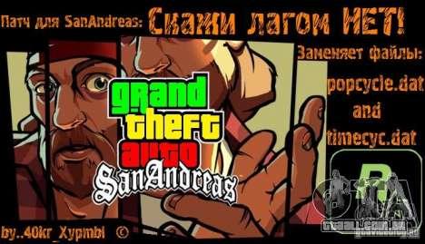 Dizer sem lags! para GTA San Andreas