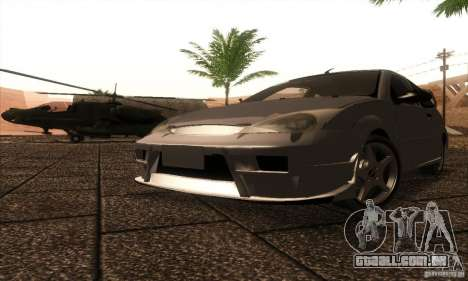 Ford Focus SVT TUNEABLE para GTA San Andreas esquerda vista