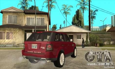 Land Rover Range Rover Sport HSE para GTA San Andreas vista direita