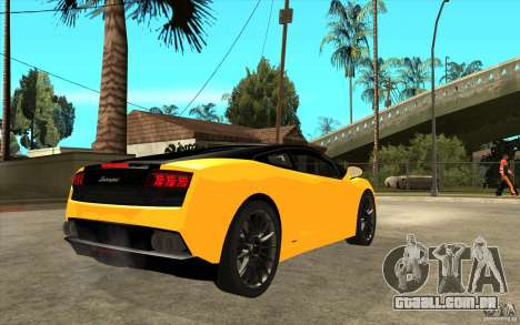 Lamborghini Gallardo LP560 Bicolore para GTA San Andreas vista direita