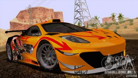 Pintura funciona McLaren MP4-12 c Speedhunters para GTA San Andreas vista direita