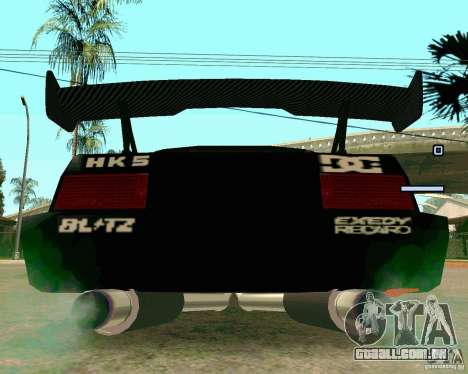Hotring Racer Tuned para GTA San Andreas vista traseira