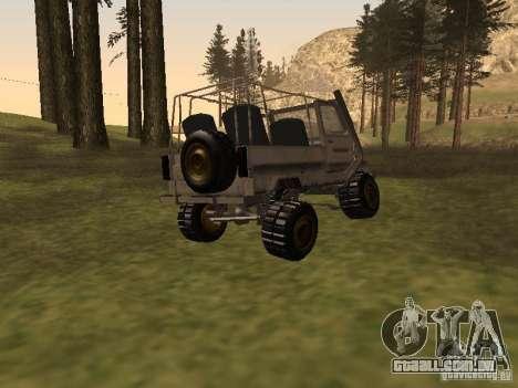 LuAZ 969 Offroad para GTA San Andreas traseira esquerda vista