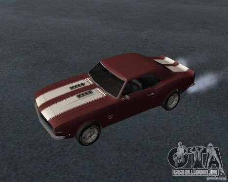 Chevrolet Camaro SS para GTA San Andreas vista inferior