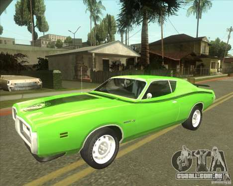 1971 Dodge Charger Super Bee para GTA San Andreas vista traseira