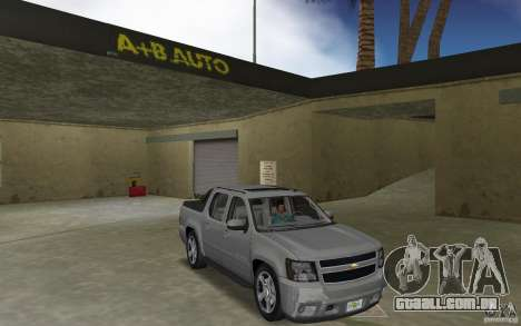 Chevrolet Avalanche 2007 para GTA Vice City vista traseira