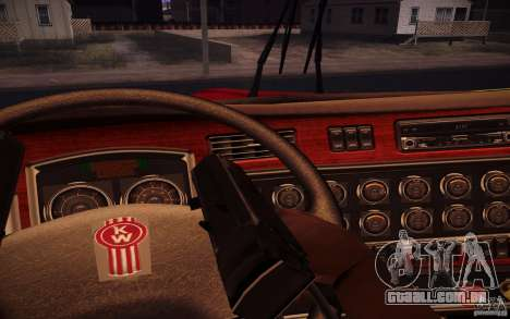 Kenworth T600 para GTA San Andreas vista inferior
