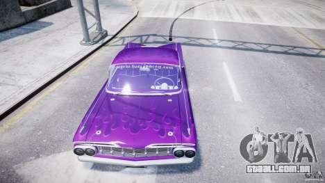 Chevrolet Impala 1959 para GTA 4 rodas