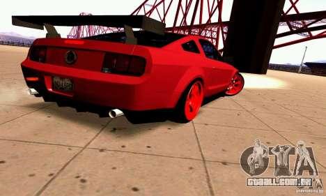 Shelby GT500 KR para GTA San Andreas vista direita