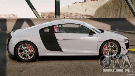 Audi R8 GT Coupe 2011 para GTA 4 esquerda vista