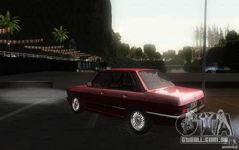 BMW E28 525e ShadowLine Stock para GTA San Andreas traseira esquerda vista