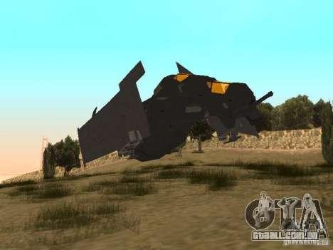 Vtol Crysis para GTA San Andreas esquerda vista