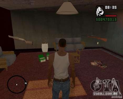 Casa caçador v 1.0 para GTA San Andreas quinto tela