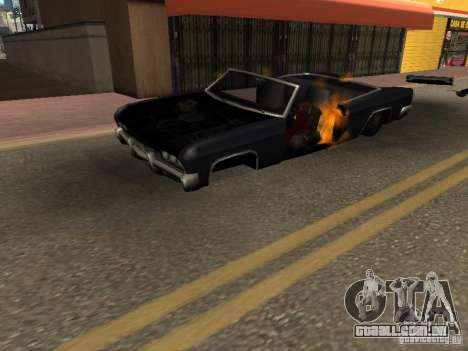 Wrecked car fix para GTA San Andreas segunda tela