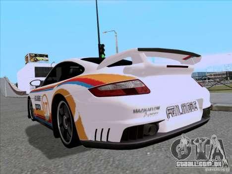 Porsche 997 GT2 Fullmode para GTA San Andreas traseira esquerda vista