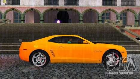 Chevrolet Camaro SS 2010 para GTA Vice City vista direita