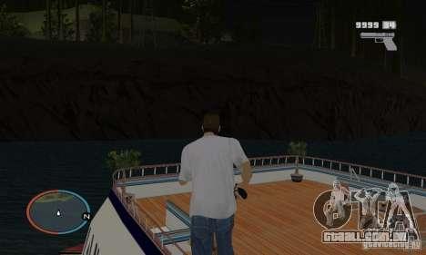 Korteza iate de Vice City para GTA San Andreas vista direita