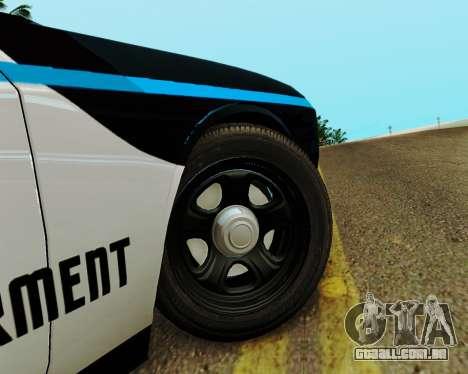 Dodge Challenger SRT8 2010 Police para GTA San Andreas vista traseira