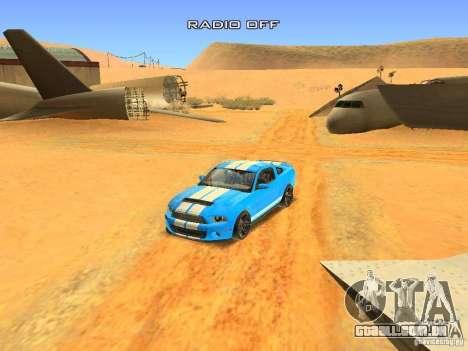 Ford Shelby GT500 para GTA San Andreas vista superior
