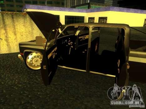 Chevrolet Silverado Towtruck para GTA San Andreas vista interior