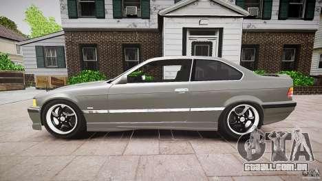 BMW E36 328i v2.0 para GTA 4 esquerda vista