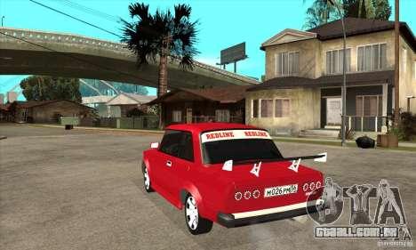 VAZ 2101 2 portas coupe para GTA San Andreas traseira esquerda vista