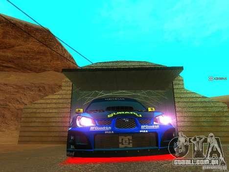 Subaru Impreza Gymkhana Practice para GTA San Andreas esquerda vista