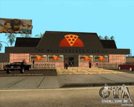 Nova pizzaria em IdelWood para GTA San Andreas