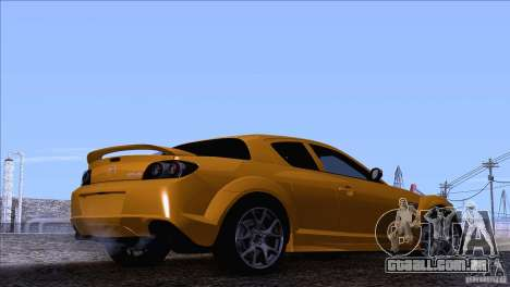 Mazda RX8 R3 2011 para GTA San Andreas esquerda vista