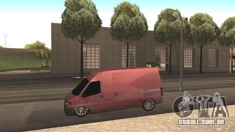 Peugeot Boxer para GTA San Andreas esquerda vista