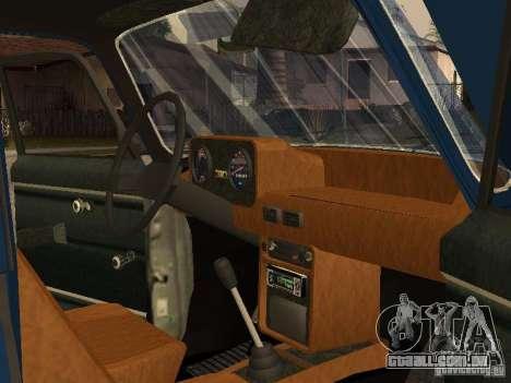 Moskvich 412-4 x 4 para vista lateral GTA San Andreas