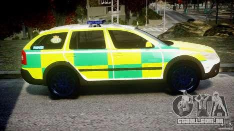 Skoda Octavia Scout Paramedic [ELS] para GTA 4 vista de volta