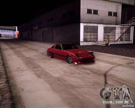 Mazda RX7 FBS3 para GTA San Andreas traseira esquerda vista