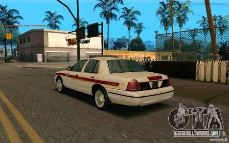 Ford Crown Victoria South Dakota Police para GTA San Andreas esquerda vista