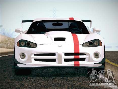 Dodge Viper SRT-10 ACR para as rodas de GTA San Andreas